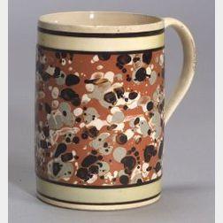 Mochaware Slip-Splashed Quart Mug