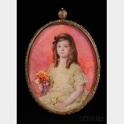 Laura Coombs Hills (American, 1859-1952)      Portrait Miniature of Louisa Barbour of Newburyport, Massachusetts.