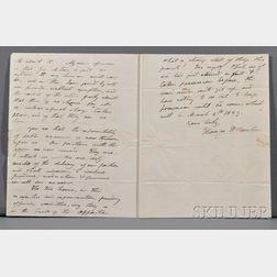 Benton, Thomas Hart (politician) (1782-1858) Autograph Letter Signed, 11 December 1827. Single wove paper bifolium, watermarked Amies,