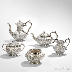 Five-piece Jacobi & Jenkins Sterling Silver Tea and Coffee Service
