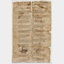 American Broadside, A Short Account of the Troubles that our Fore-Fathers met with to obtain this Land.