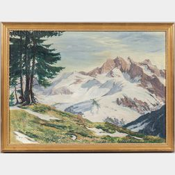 Attributed to Fred William Becker (American, 1888-1974)      Mountains in Snow