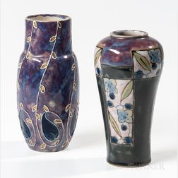 Two Royal Doulton Stoneware Vases