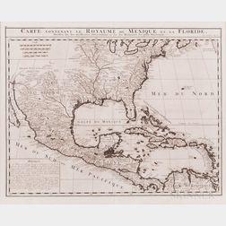 North and Central America. Henri Chatelain (1684-1743) Carte Contenant le Royaume du Mexique et la Floride, Dressez sur les Meilleures