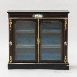 Victorian Ormolu-mounted, Glazed, and Ebonized Cabinet