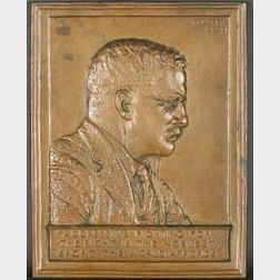 James Earle Fraser (American, 1876-1953)      Theodore Roosevelt Relief Plaque.