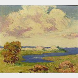 Nan Sheets (American, 1889-1976)  Dunes on Cape Cod