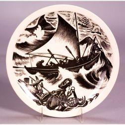 Twelve Wedgwood Claire Leighton Design Queen's Ware Plates