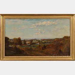 Frank Henry Shapleigh (New Hampshire, 1842-1906)      Overlooking the Harbor, Cohasset, Massachusetts.