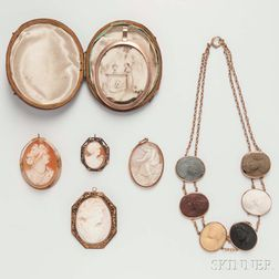 Group of Cameo Jewelry