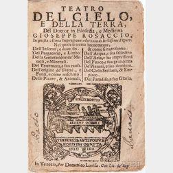 Rosaccio, Giuseppe (c. 1530-1620) Teatro del Cielo, e della Terra.