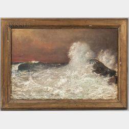 J.L. Findlay (American, 1860-1947)      Crashing Waves
