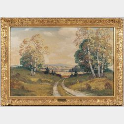 Ernest Fredericks (American, 1877-1959)      Early Autumn Landscape