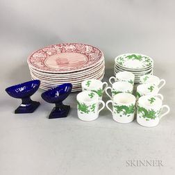 Group of Glass and Ceramic Tableware Items