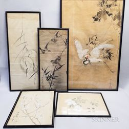 Six Drawings of Birds and Flowers
