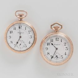 """Two Rockford Watch Co. """"545"""" Open-face Watches"""