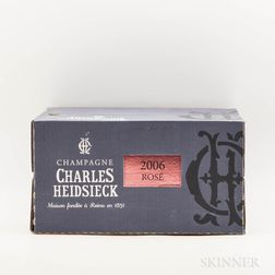 Charles Heidsieck Brut Rose 2006, 6 bottles (oc)