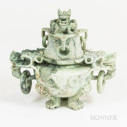 Chinese Carved Hardstone Censer