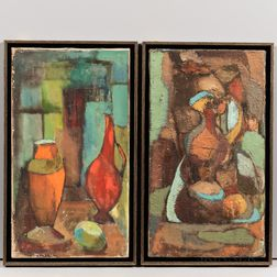 Elsa Schachter (American, 20th Century)      Two Framed Still Life Paintings.