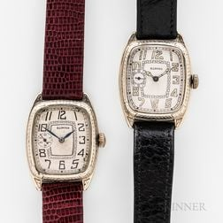 """Two Illinois Watch Co. """"Marquis"""" Wristwatches"""