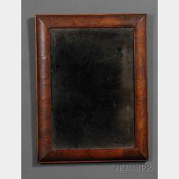 William and Mary Walnut Veneer Mirror