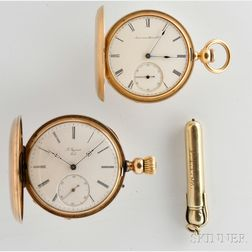 Two Gold Hunter Case Watches