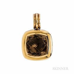 """David Yurman Sterling Silver, 18kt Gold, and Citrine """"Albion"""" Pendant"""