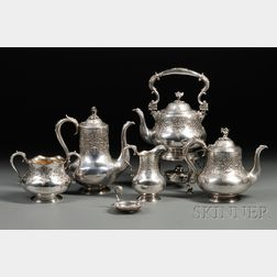 Sterling Silver Tea and Coffee Service with Tray