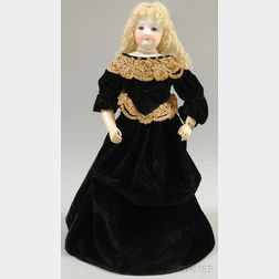 French Fashion Doll with Articulated Wooden Body