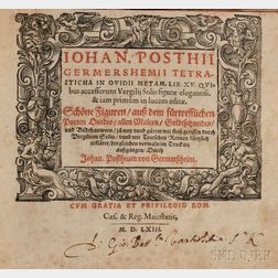 Posthius, Johannes (1537-1597) Tetrasticha in Ovidii Metam. Lib. XV.