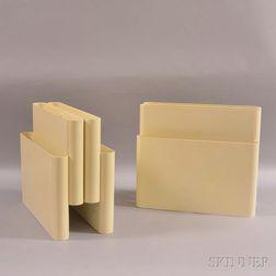 Two Giotto Stoppino (1926-2011) for Kartell Plastic Magazine Racks