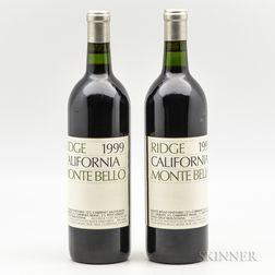 Ridge Monte Bello 1999, 2 bottles