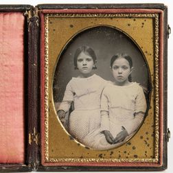 Quarter-plate Daguerreotype of Sisters