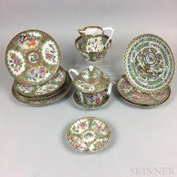 Thirteen Rose Medallion Porcelain Tableware Items.     Estimate $200-400