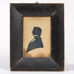 Hollow-cut Silhouette Reportedly of William Henry Seward, Secretary of State Under President Abraham Lincoln