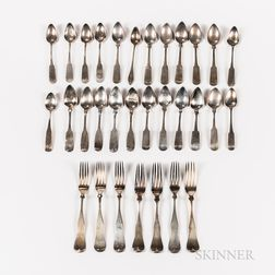 Group of Coin Silver Flatware