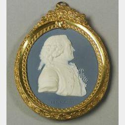 Wedgwood and Bentley Jasper Portrait Medallion of Carolus Linnaeus