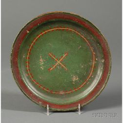 Polychrome Painted Treen Plate