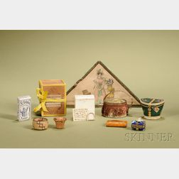 Group of Miniature Containers and Ephemera
