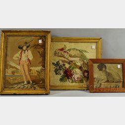 Three Framed 19th Century English Needleworks