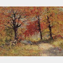 Henry Hammond Ahl (American, 1869-1953)      Autumn Woods