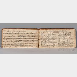 Manuscript on Paper, New England, Tunes and Songs with Music, c. 1785.