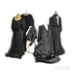 Group of Victorian Black Mourning Clothing