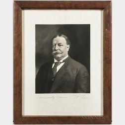 Taft, William Howard (1857-1930) Signed Portrait.