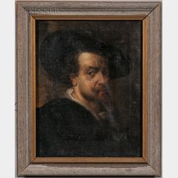 After Peter Paul Rubens (Flemish, 1577-1640)      Copy After Ruben's Self Portrait of 1623