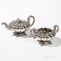 French .950 Silver Teapot and Sugar Bowl