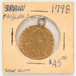 1798 British George III Spade Guinea
