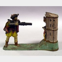 Polychrome Cast Iron William Tell Mechanical Bank
