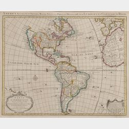 North and South America. Guillaume de L'isle (1675-1726) Carte D'Amerique