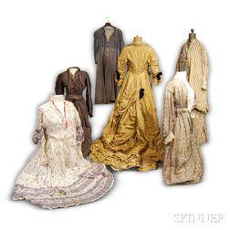 Seven Victorian Dresses